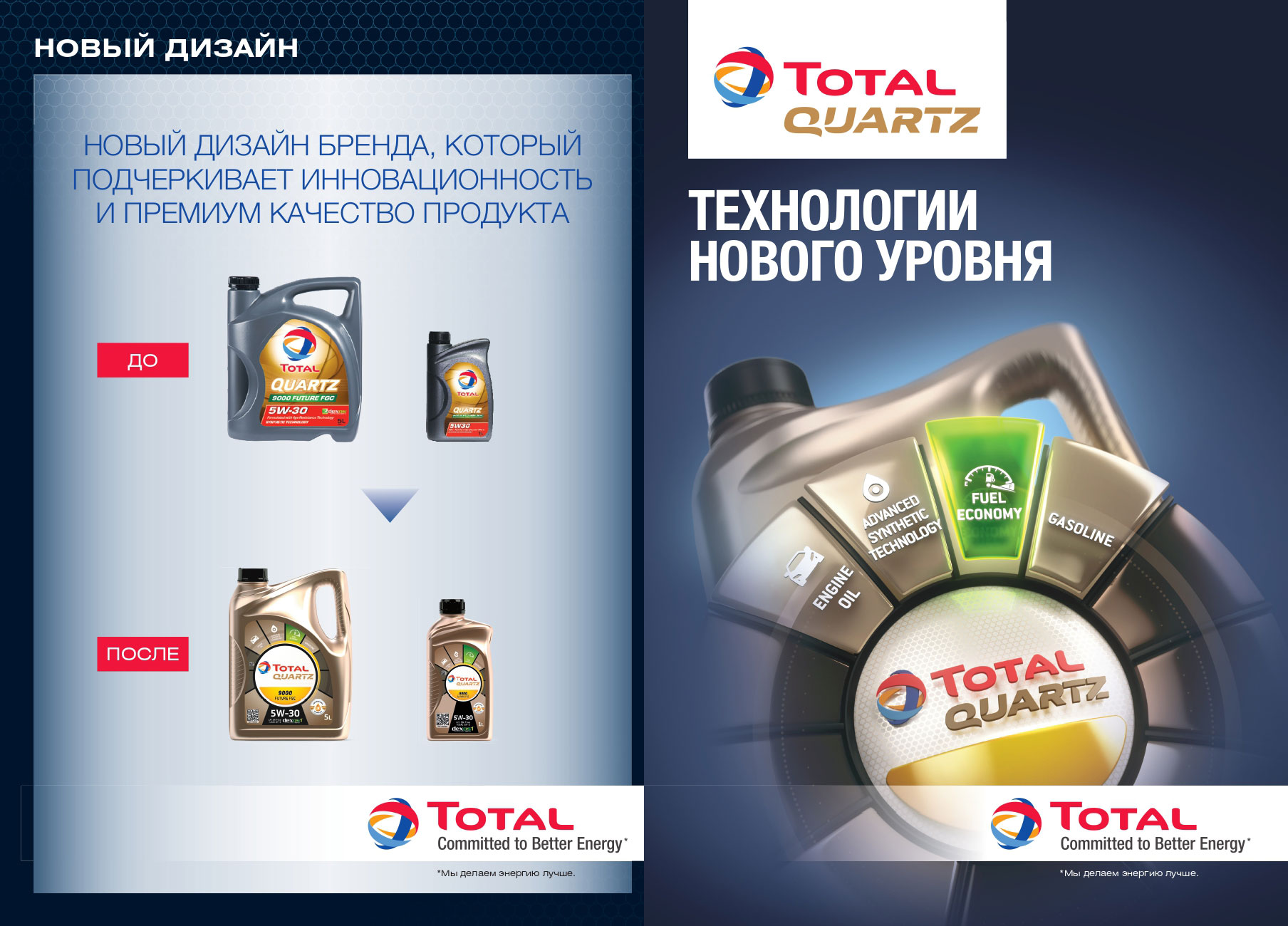 Total Lubrifiants представляет новый дизайн канистры для моторных масел